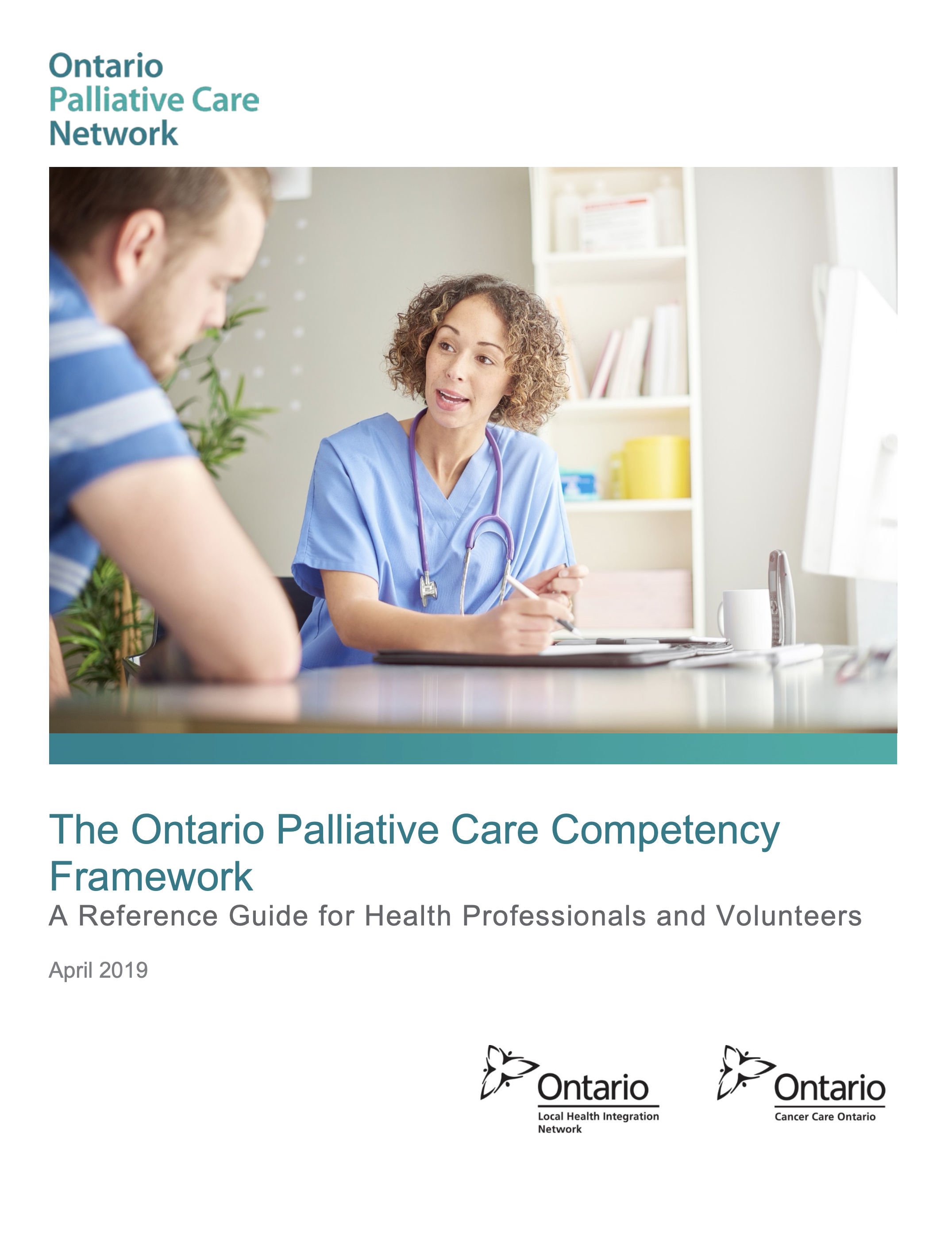 The Ontario Palliative Care Competency Framework (2019) Title Page